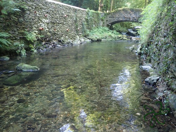 The first bridge in Laxey Glen