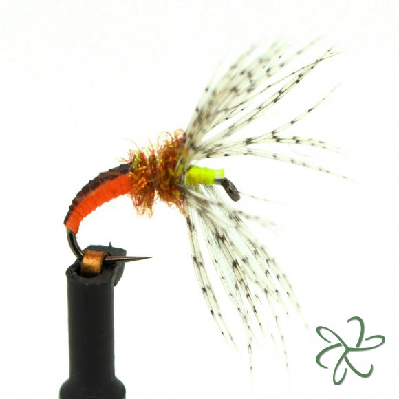 Orange Nymph Skin Tenkara Fly